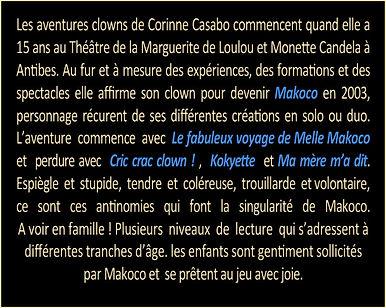 A propos du clown Makoco