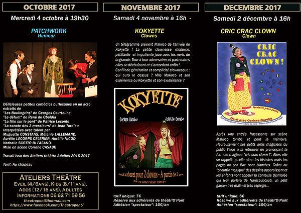 programmation theatre de poche oct-decembre 2018, 34800 Canet