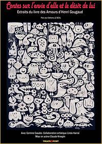 Affiche spectacle contes d'Henri Gougaud par Corinne Casabo