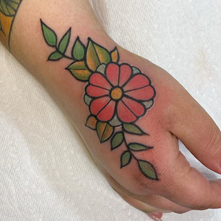 Free hand traditional flower 🌸 was so h