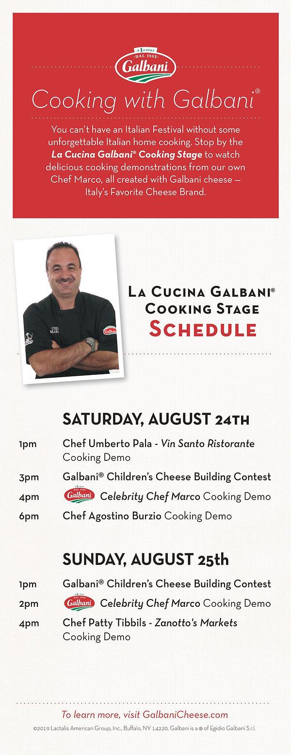 Galbani Cooking Stage Schedule
