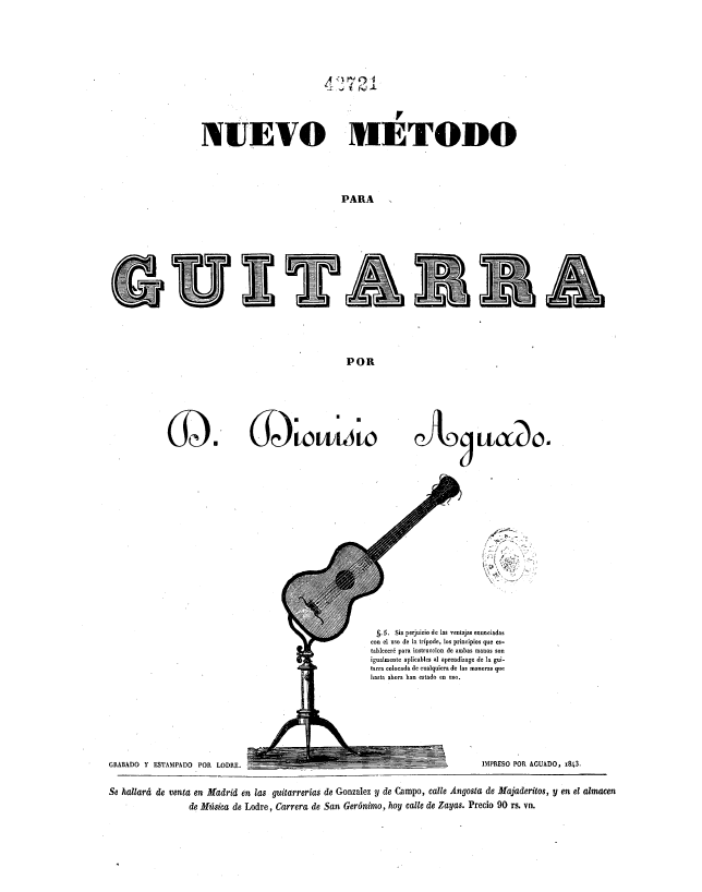 Aguado Nuevo Método 1843 tripode tripodison