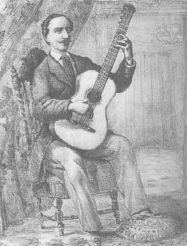 Scherzo Tomas Damas postura guitarra siglo XIX
