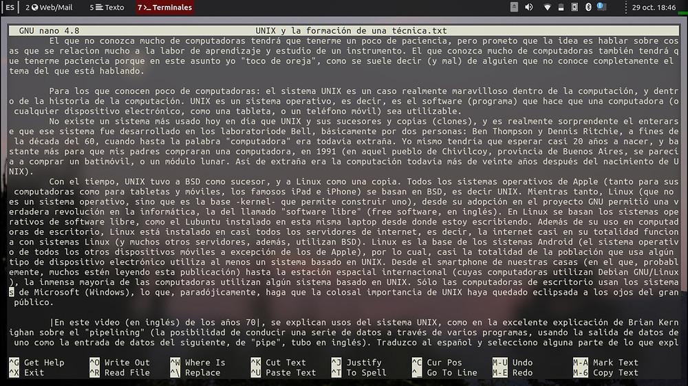 captura de pantalla laptop Lubuntu