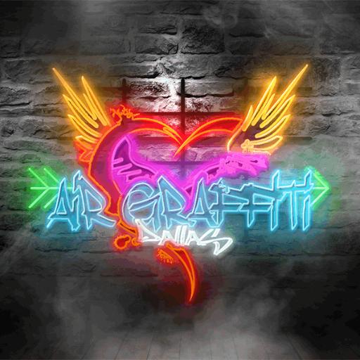 air graffiti neon logo