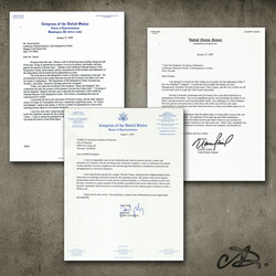 Letters from Congress.