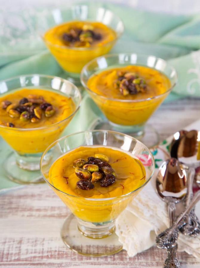 Recipe Alert : Persian Saffron Pudding