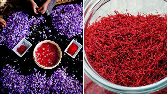 Saffron is one of the 5 crops still hand-harvested.. and it's hard work