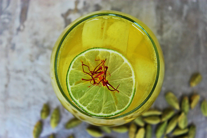 Recipe Alert : Saffron Infused Gin Cocktail