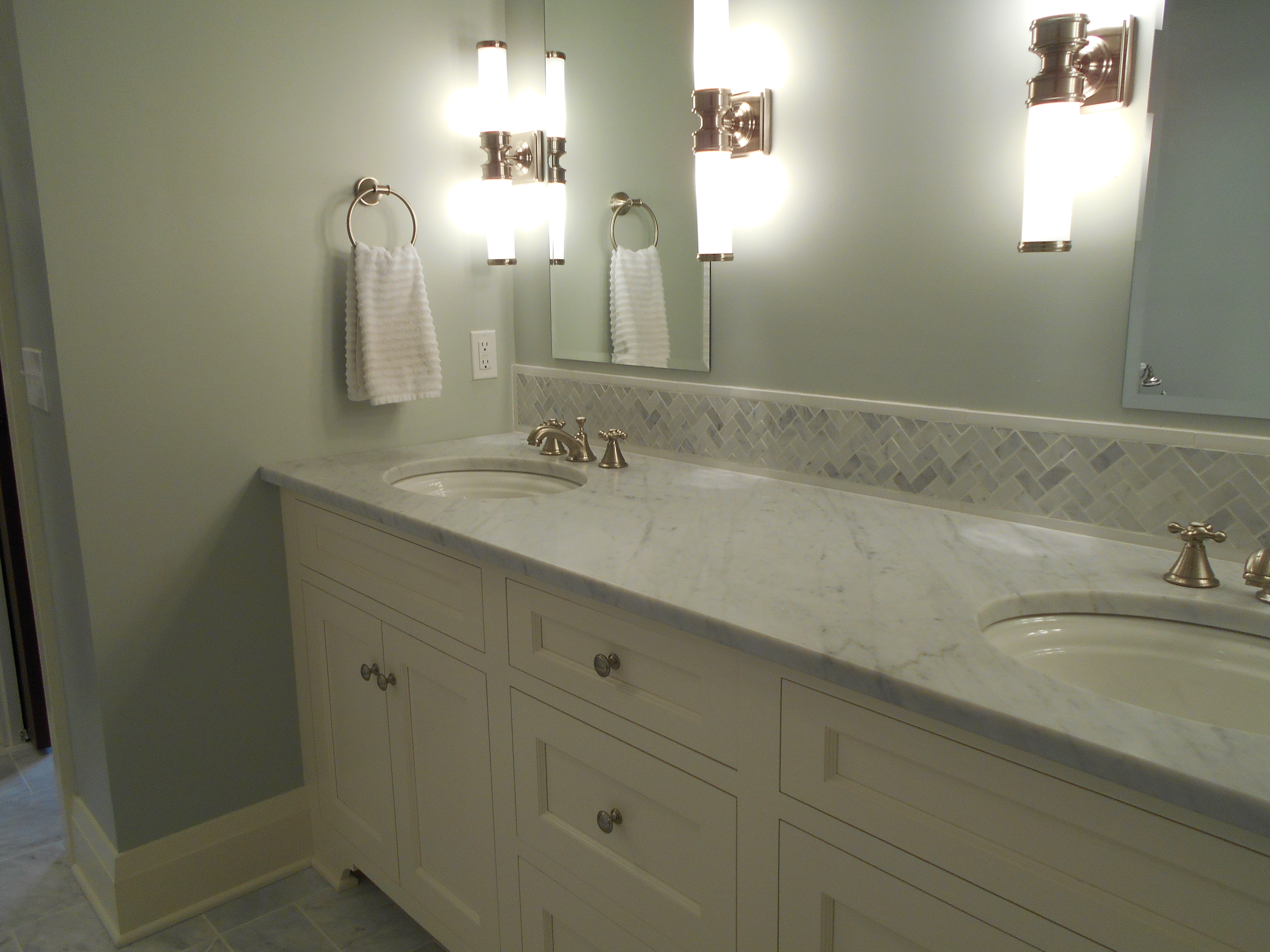 Master bath in marble