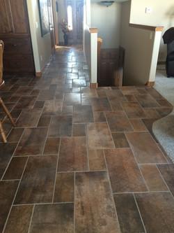 Earth tone tile floor