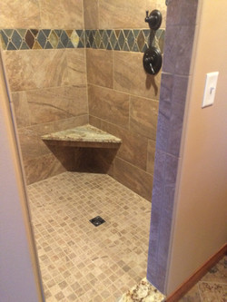 Shower tile and seat