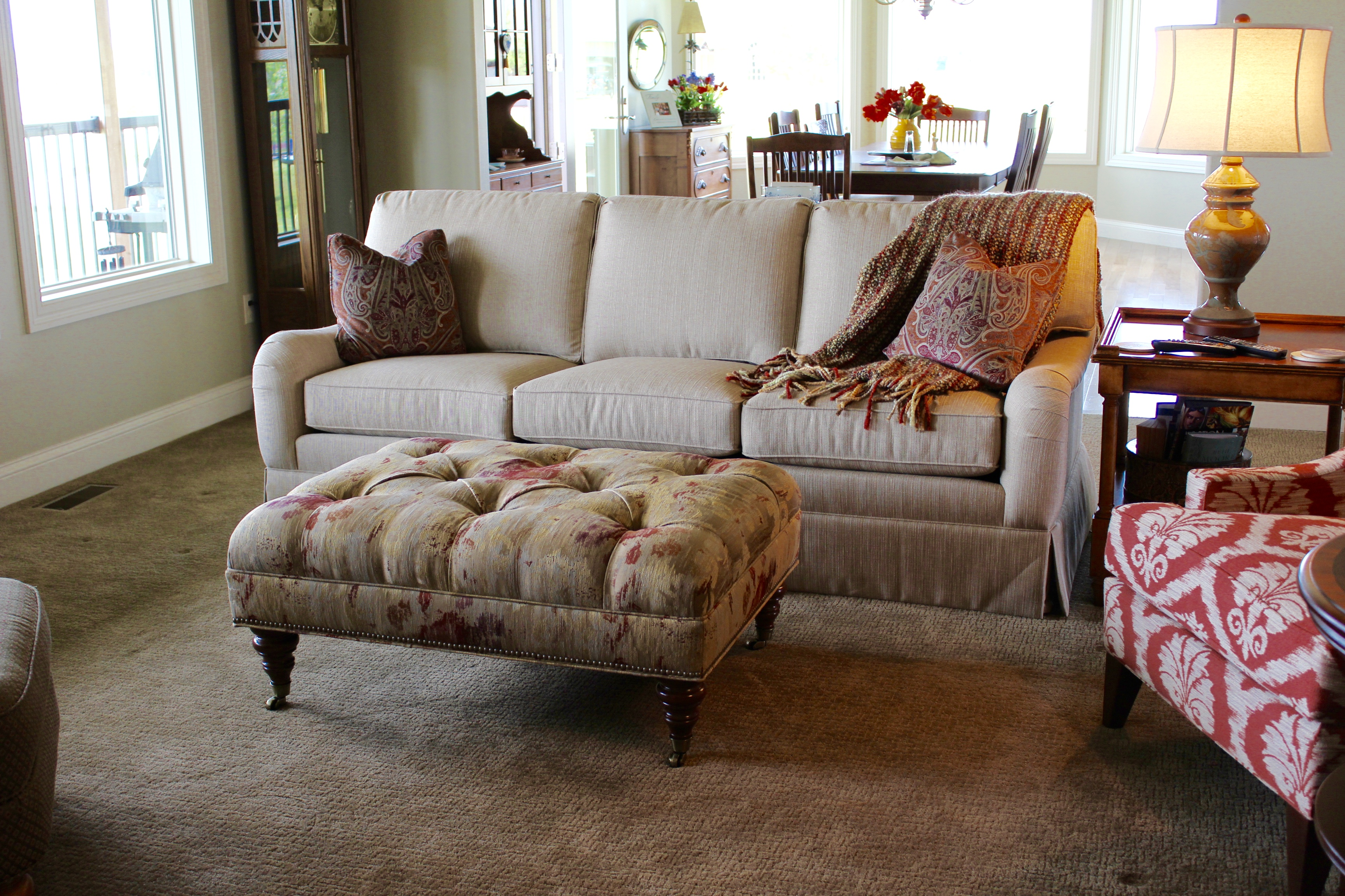 Custom living room upholstery