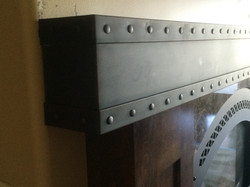 Copper mantel made in Sioux Falls