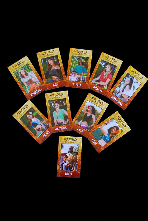 Masala Gypsy Dancer Trading Cards