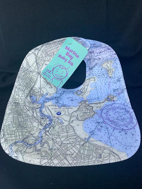 Nautical Map Baby Bib