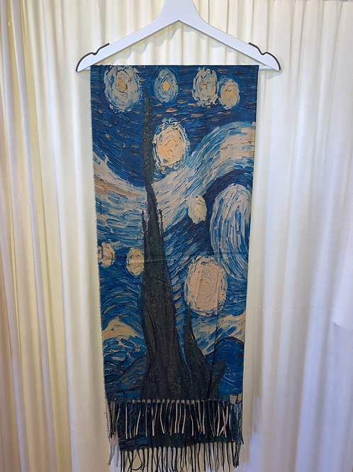 Painting Replica Cotton/Rayon Scarf