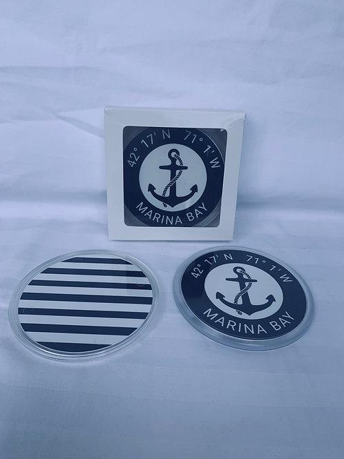 Anchor Coasters with Co-Ordinates