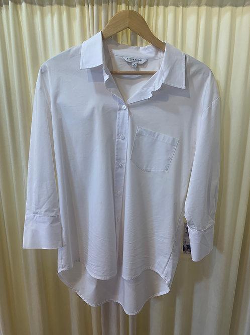 White Cotton Button Up