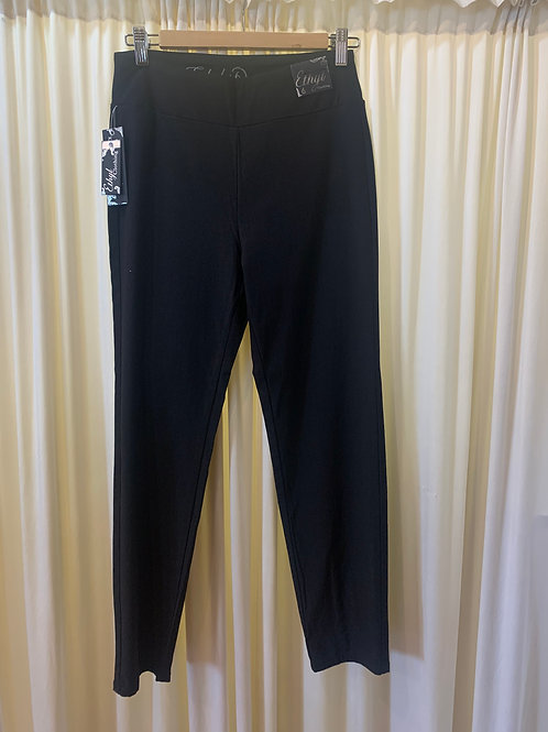 Black Stretch Pant with Detail Back