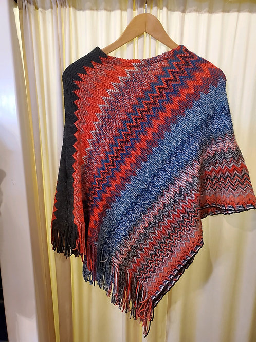 Zig Zag Knit Cover-up with Fringe Detail