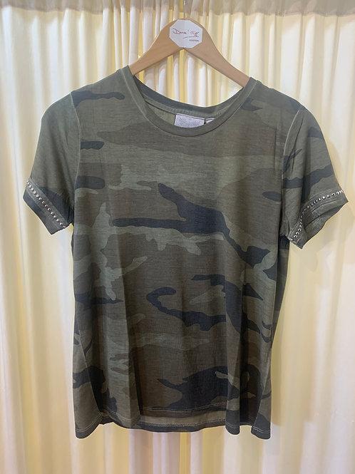 Green Camo Cotton T-Shirt