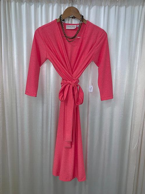 Denise Hajjar Original Wrap Dress Pink