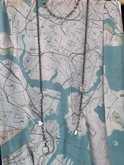 Quincy Streets Map Scarf