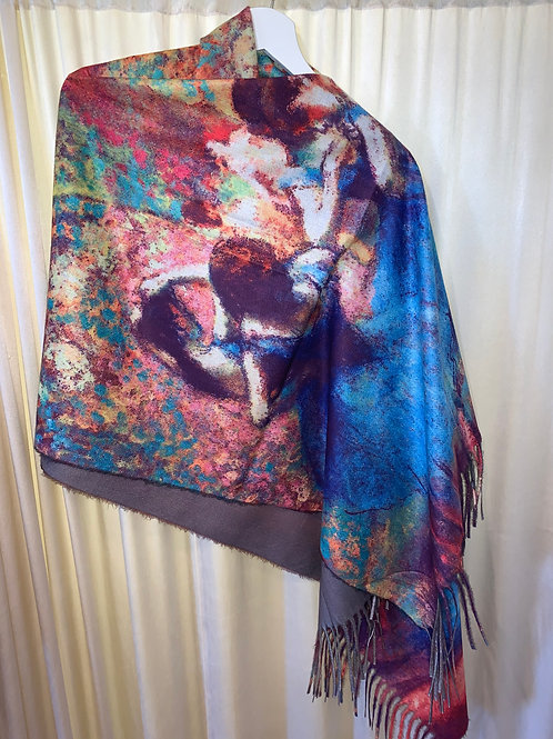 Painting Replica Cotton/Rayon Scarf $48