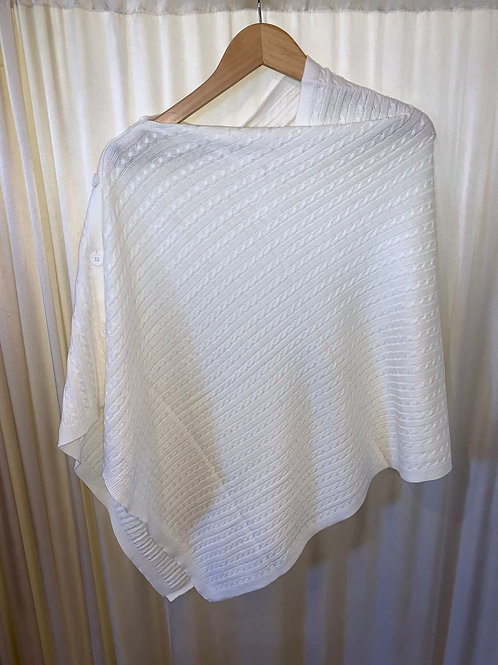White No Sleeve Pullover