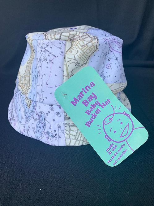 Nautical Map Baby Bucket Hat