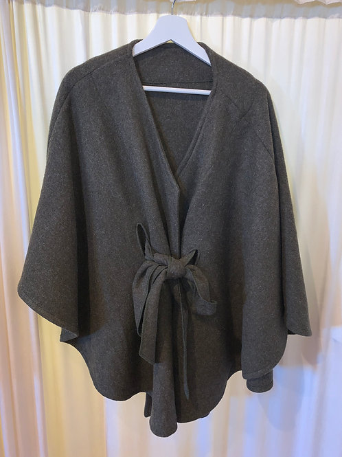 Dark Grey Pull Tie Jacket