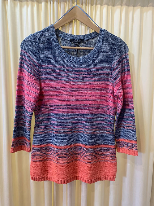 Blue and Pink Stripe Sweater