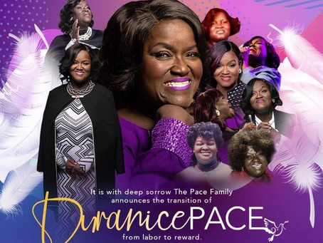 TRANSITION OF  RENOWNED GOSPEL SINGER, EVANGELIST DURANICE PACE