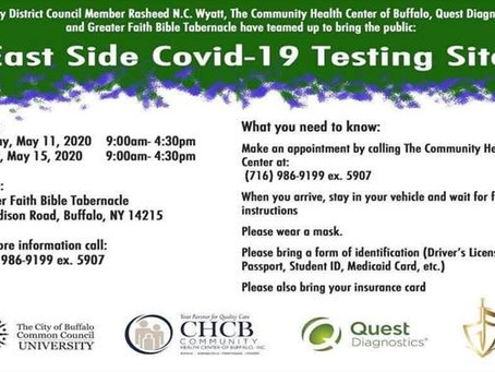 COVID Testing @ Greater Faith Bible Tabernacle