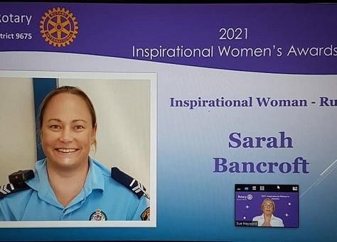 Sarah Bancroft awarded Rotary Rural Inspirational Women's Awards