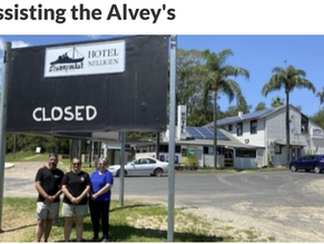 Assisting the Alvey's of Nelligen's Steampacket Hotel