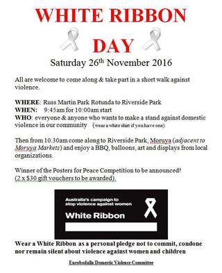 White Ribbon Day - Nov 26th