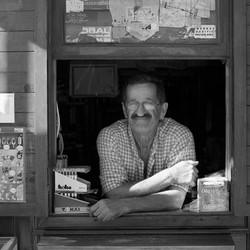 Shop Keeper Akyaka Turkey by Yvonne Matt