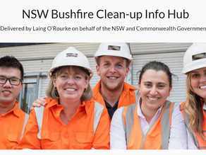 Bushfire recovery clean-up update