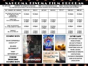Narooma Kinema program Aug 20th