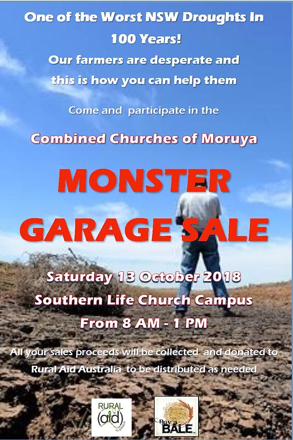 481f7ae9fdba Moruya MONSTER Garage Sale Oct 13th | The Beagle | Eurobodalla | On ...