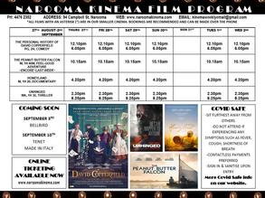 Narooma Kinema program Aug 27th to Sep 2nd