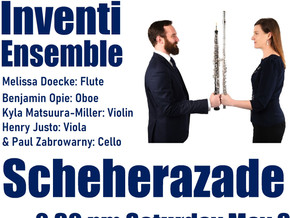 Montague Choristers present: Inventi Ensemble May 8th