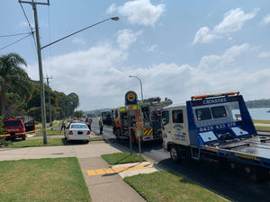 Accident on Beach Road causes lunch time congestion