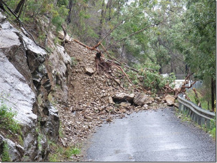 Councillors attend on-site inspection of failed Araluen Road