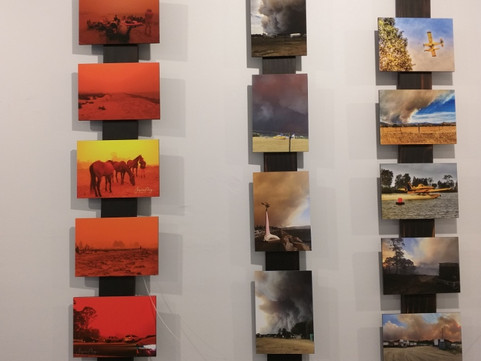 'Postcards from the Fire' the Gallery in Mogo from the 2nd to 11th October