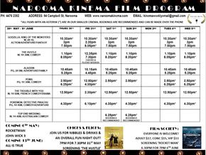 Narooma Kinema Program May 30 to June 8th