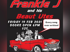 The Quarterdeck presents: frankie j holden and his beaut utes Friday 19 February 2021