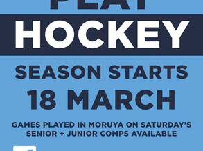 Eurobodalla Hockey starts 18th March
